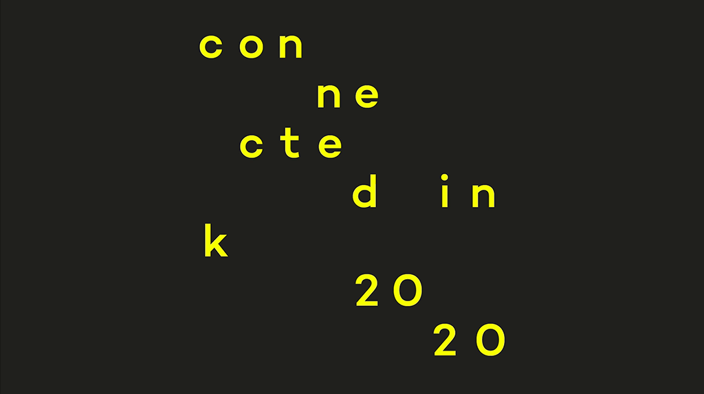 Image showing the key visual for Wacom's Connected Ink event with yellow letter spread over the image spelling the event's name