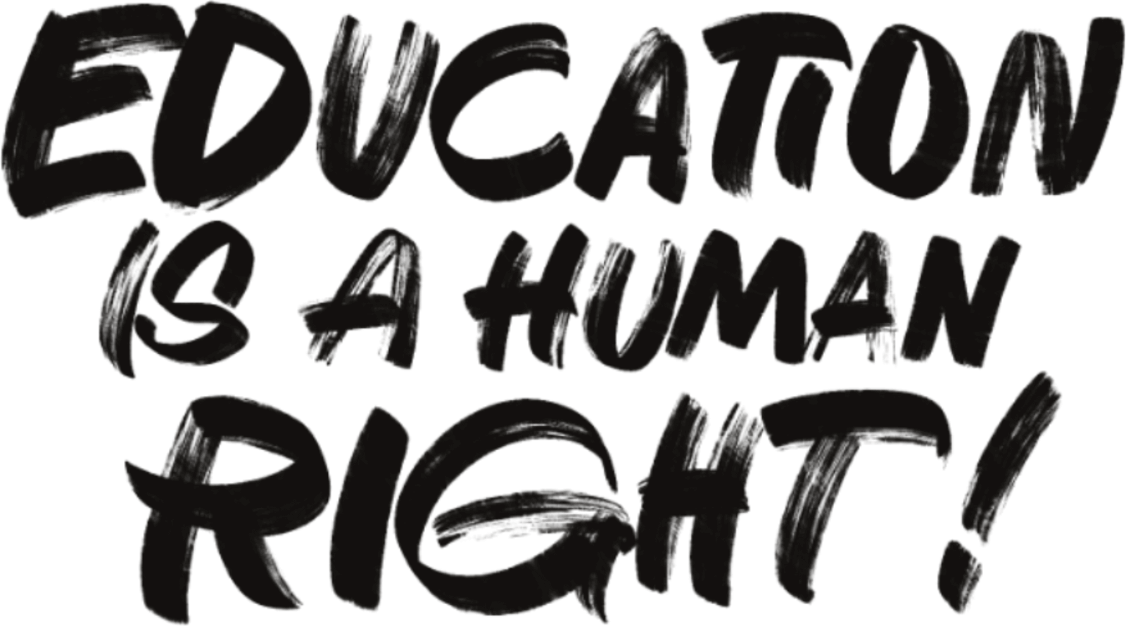 "A slogan of Makuyuni.org stating ""Education is a human right"""