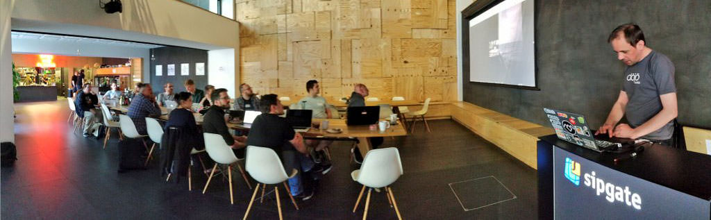 People attending and working during the IndieWebCamp