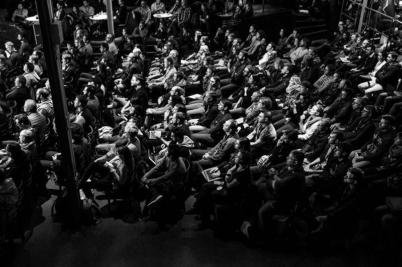 Photo showing the audience in Berlin.