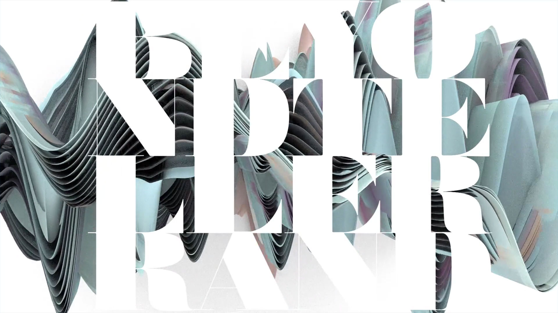 Screenshot of this year's opening titles showing a wave and the name of the event in big letters